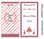 two sides of the wedding... | Shutterstock .eps vector #198337106