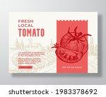 vegetables food label template. ... | Shutterstock .eps vector #1983378692