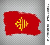 flag of occitanie brush strokes....