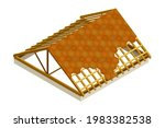 framed roof as house top... | Shutterstock .eps vector #1983382538