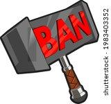 ban hammer emotes twitch...   Shutterstock .eps vector #1983403352