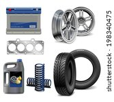 vector auto parts | Shutterstock .eps vector #198340475
