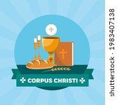 corpus christi catholic... | Shutterstock .eps vector #1983407138