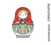 russian nesting doll  vector... | Shutterstock .eps vector #1983424958