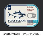 canned tuna label template ...   Shutterstock .eps vector #1983447932