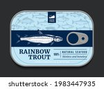 canned rainbow trout label...   Shutterstock .eps vector #1983447935