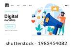 digital marketing web concept....