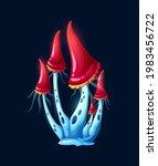 fantasy magic red mushrooms in...   Shutterstock .eps vector #1983456722