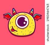 cute monster cartoon doodle... | Shutterstock .eps vector #1983464765