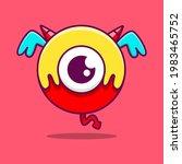 cute monster cartoon doodle... | Shutterstock .eps vector #1983465752