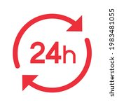 twenty four hour with arrow...   Shutterstock .eps vector #1983481055