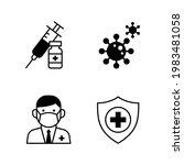syringe  vaccine vial  virus...   Shutterstock .eps vector #1983481058