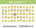 emoji smiles emoticons set... | Shutterstock .eps vector #1983484115