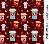seamless pattern with takeaway... | Shutterstock .eps vector #198348662