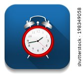 clock alarm icon with long... | Shutterstock . vector #198349058