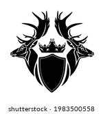 pair of deer stags with large...   Shutterstock .eps vector #1983500558