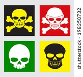 vector set of different colors... | Shutterstock .eps vector #198350732