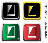 mobile phone icons  for web ...   Shutterstock .eps vector #198354032
