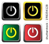 on off switch icon set  for web ... | Shutterstock .eps vector #198354128