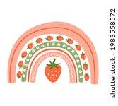 strawberry hand drawn.  retro...   Shutterstock . vector #1983558572