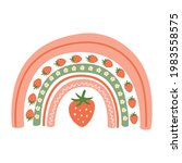 strawberry hand drawn. summer...   Shutterstock .eps vector #1983558575