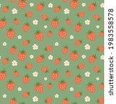 strawberry seamless pattern....   Shutterstock .eps vector #1983558578