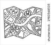 vector black and white... | Shutterstock .eps vector #1983568535