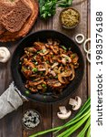 Roasted Mushrooms With Onion In ...