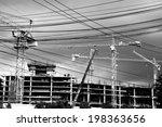 construction site crane | Shutterstock . vector #198363656