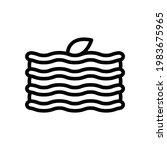 lasagna vector icon in outline...