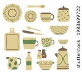 collection of modern ceramic... | Shutterstock .eps vector #1983699722