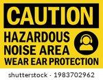 hazardous noise area wear ear... | Shutterstock .eps vector #1983702962