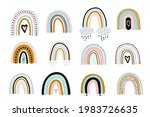 cute rainbow vector set... | Shutterstock .eps vector #1983726635