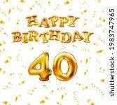 golden number forty metallic... | Shutterstock .eps vector #1983747965