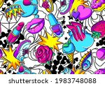 seamless pattern with fashion... | Shutterstock .eps vector #1983748088