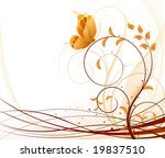 autumn vector floral background | Shutterstock .eps vector #19837510
