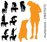 vector silhouette of people... | Shutterstock .eps vector #198375272