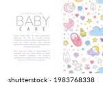 cute baby care poster template...   Shutterstock .eps vector #1983768338