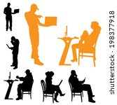 vector silhouettes of business... | Shutterstock .eps vector #198377918