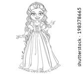 young princess with long hair... | Shutterstock .eps vector #198378665
