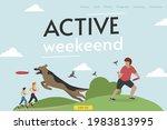 site header. active weekend. a... | Shutterstock .eps vector #1983813995