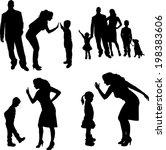 vector silhouette of family on... | Shutterstock .eps vector #198383606