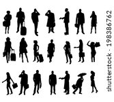 vector silhouettes of business... | Shutterstock .eps vector #198386762