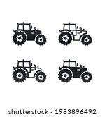 tractor simple design vector... | Shutterstock .eps vector #1983896492