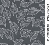 decorative leaves vector... | Shutterstock .eps vector #1983896495