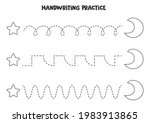 tracing lines for kids with...   Shutterstock .eps vector #1983913865