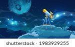 telescope for space exploration ... | Shutterstock .eps vector #1983929255