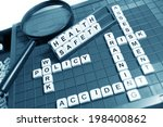 health and safety concept with...   Shutterstock . vector #198400862