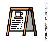 outside menu board coffee...   Shutterstock .eps vector #1984010018