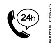 call center 24 hours icon ...   Shutterstock .eps vector #1984012178